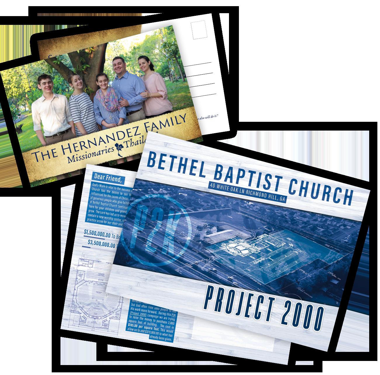 Mailers & Prayer Cards